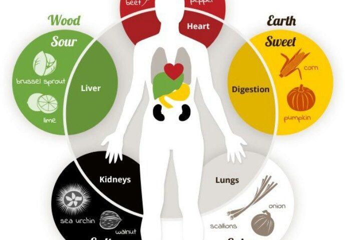 תזונת מותאמת על פי פילוסופיית חמשת האלמנטים